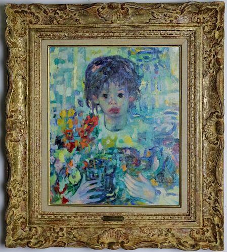 Luigi Corbellini 1901-1968 Portrait Oil Painting