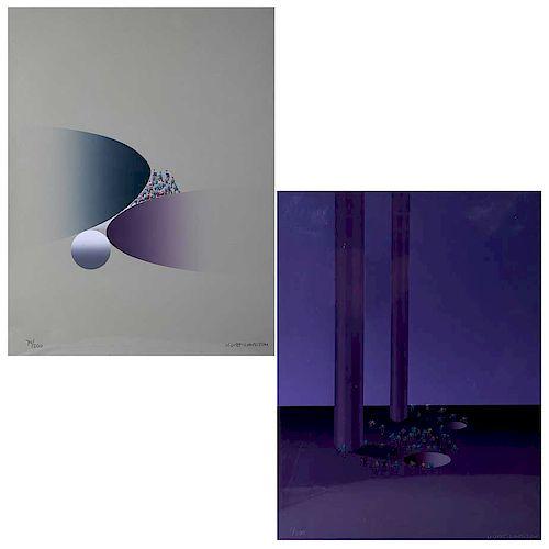 KURT LARISCH. Obras gráficas. Sin título, seriadas: 8/200 y 79/200, firmadas. 43 x 33 cm cada una. Piezas: 2