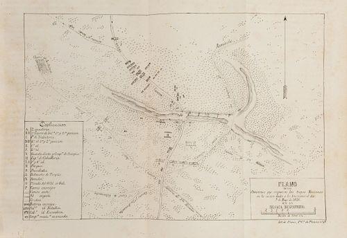 Alcaraz, Ramón - Iglesias, José María. Apuntes para la Historia de la Guerra entre México y los Estados Unidos. Méx, 1848. 28 láminas.