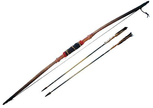 Northern Cheyenne Bow & Arrows 1870 Dakota Museum