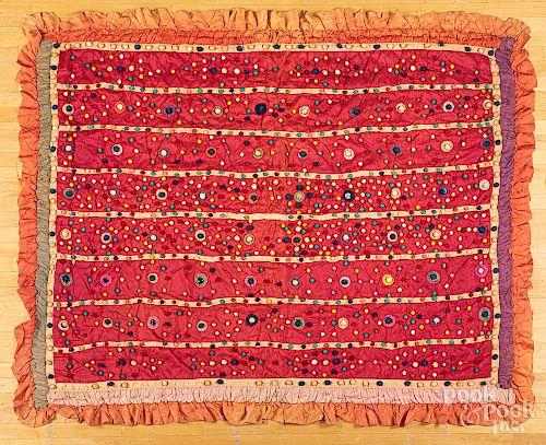 Unusual silk bar quilt