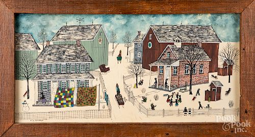Dolores Hackenberger Amish winter scene