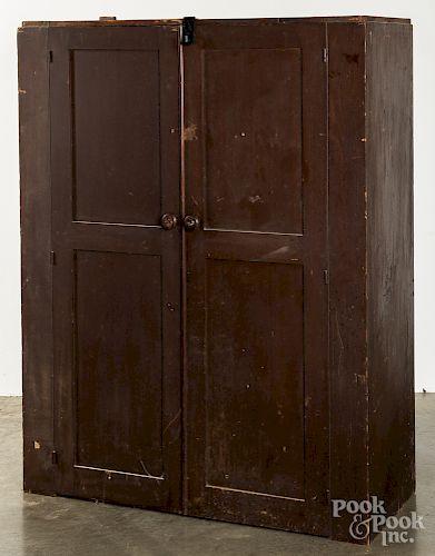 Stained poplar cupboard