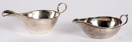 Two coin silver pap boats