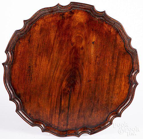 Mahogany piecrust tray