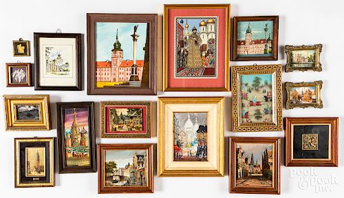Collection of small framed works