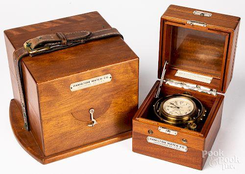 Hamilton model 22 Marine chronometer