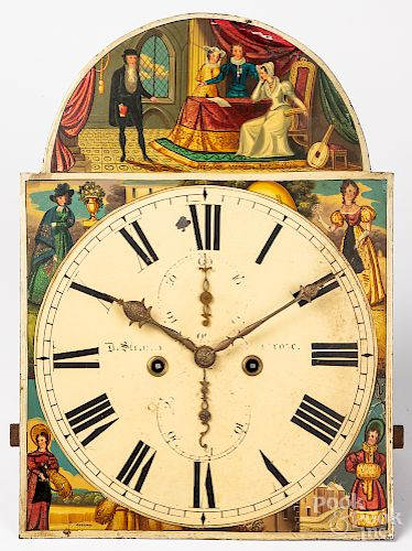 English tall case clock works
