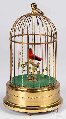 German wind-up bird in cage