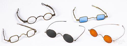 Five early eye glasses