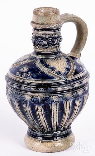Small German Westerwald stoneware bottle