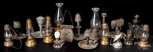 Early brass and tin lighting