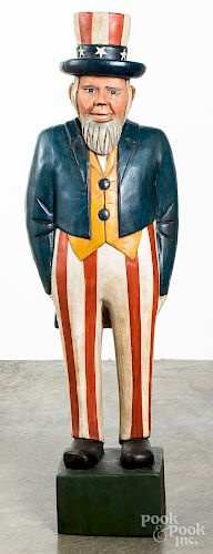 Carved and painted Uncle Sam