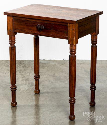 Pennsylvania walnut one-drawer stand