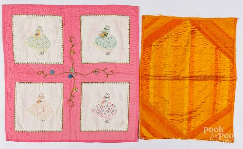 Two doll quilts