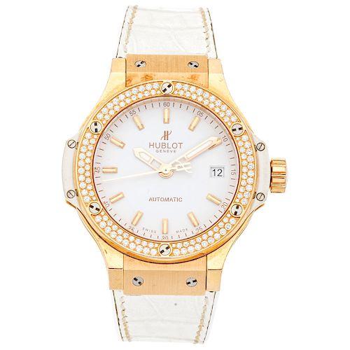 HUBLOT BIG BANG GOLD WHITE DIAMONDS wristwatch.