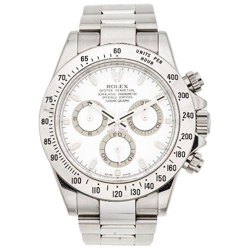 ROLEX OYSTER PERPETUAL COSMOGRAPH DAYTONA REF. 116520, CA. 2008 wristwatch.