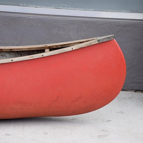 Mid-Century Modern Old Town Red Canoe Kayak - $1,950