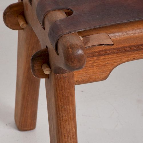 Mid Century Modern Angel Pazmino Telephone Table Stool By