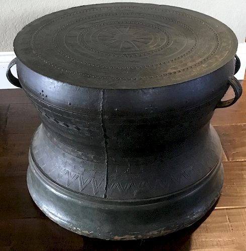 Bronze Drum, SE Asia, 17th Century or earlier