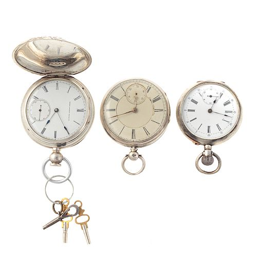 A Trio of Gentlemen's Vintage Pocket Watches