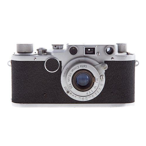 Leica II C Camera With Leitz Elmar Lens