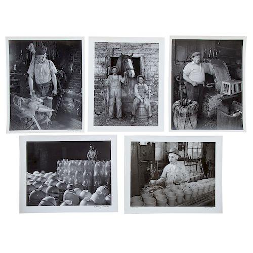 A. Aubrey Bodine. Five Asstd. Photos: Occupations