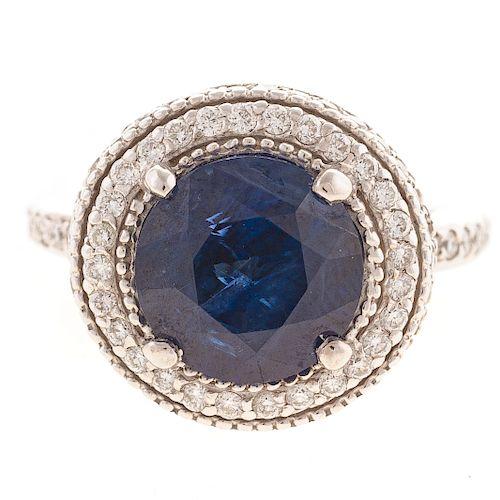 A Ladies Sapphire & Diamond Ring in 14K Gold