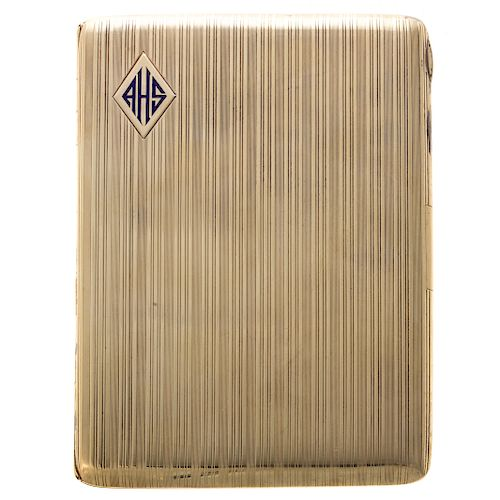 A Vintage Cigarette Case in 14K Gold