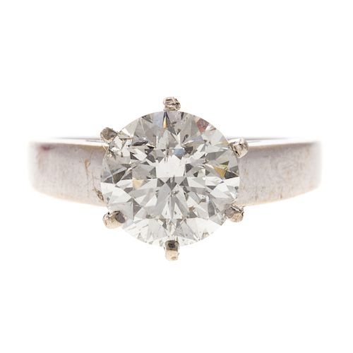 A Ladies 3.05ct Diamond Solitaire Ring