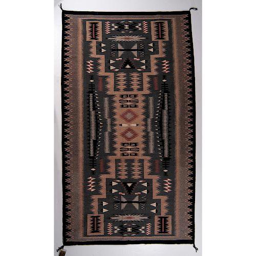 Susie Yazzie (Dine, 20th century) Navajo Storm Pattern Weaving / Rug