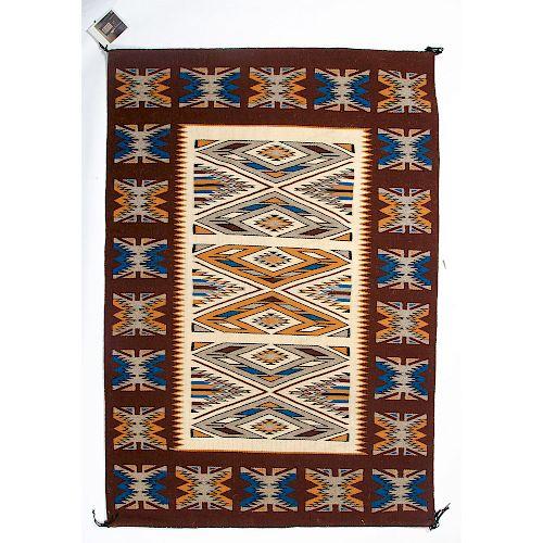 Vangeline Thomas (Dine, 20th century) Navajo Teec Nos Pos Weaving / Rug