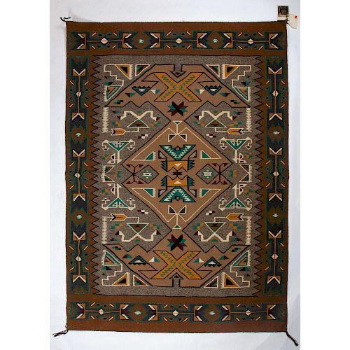 Elsie Begay (Dine, 20th century) Navajo Teec Nos Pos Weaving / Rug
