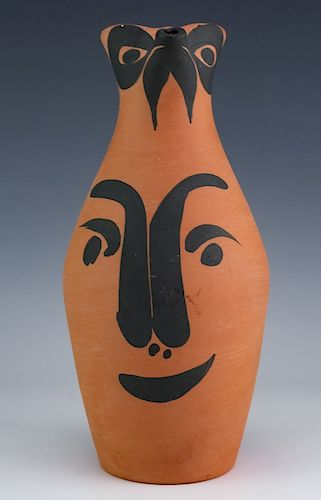 Pablo Picasso Yan Face Madoura Pottery Pitcher Jug