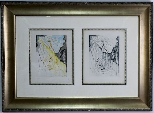 Authentic Salvador Dali Canto 21 Woodcut & Etching