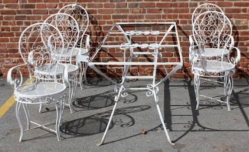 Vintage Iron Outdoor Dining Set.