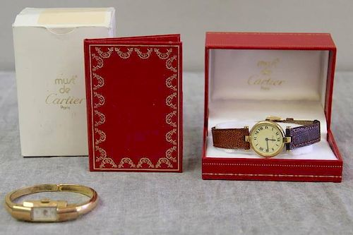 JEWELRY. Watch Grouping Including Cartier.