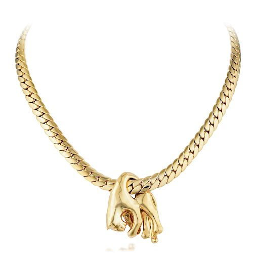 Cartier Gold Panther Necklace