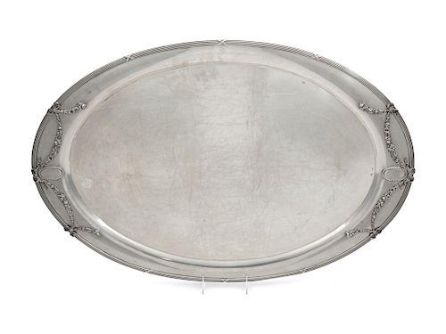 An Austrian Silver Serving Tray<br>