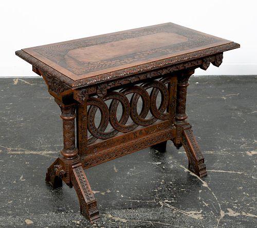 Cincinnati Art Carved Parlor Table, 1876