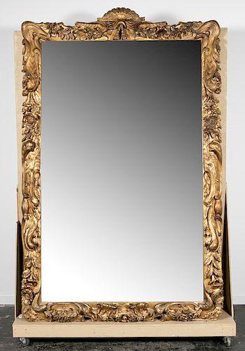 Palatial Chapman & Bros. Carved Giltwood Mirror