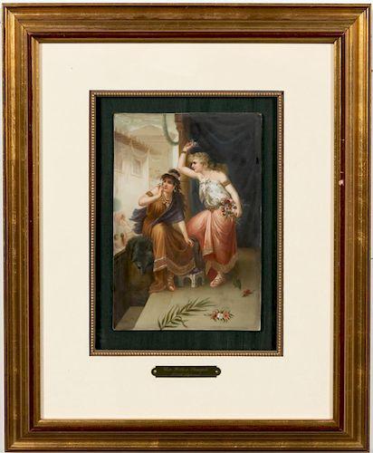"""KPM """"Une Fete a Pompei"""" Plaque, After P. Cooman"""
