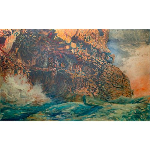 EARL STALEY, LAND OF THE SIRENS ACRYLIC PAINTING
