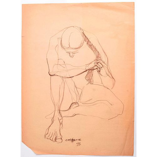 EXPRESSIONIST SKETCH ON PAPER BY STANLEY MOREL COSGROVE