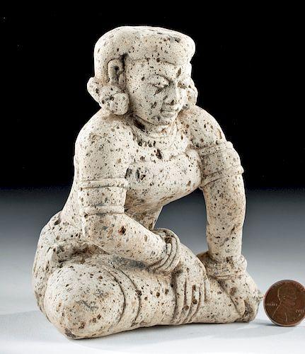 Majapahit Stone Woman - Seated w/ Crossed Legs