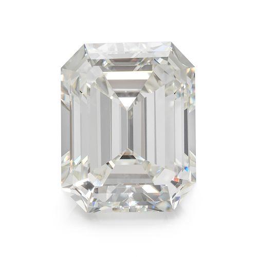 A 5.57 Carat Octagonal Step Cut Diamond,
