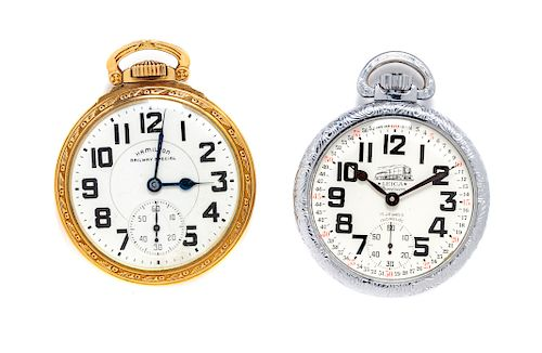 A Collection of Open Face Pocket Watches,