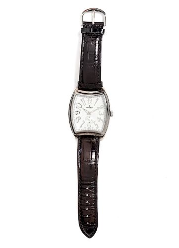 A Silver Toned Wristwatch, Peugot,