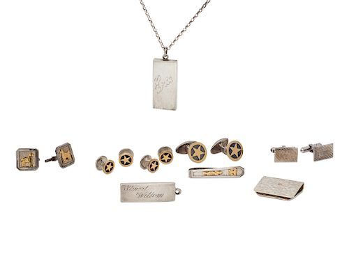 A Collection of Sterling Silver Accessories,