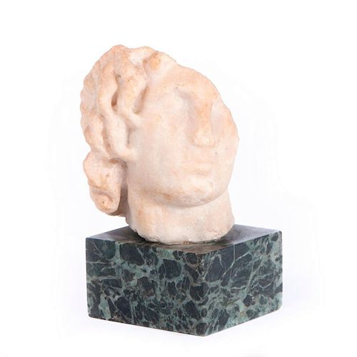 A Greek or Roman marble head.
